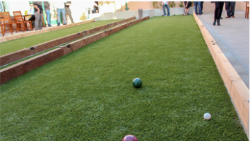 ARTIFICIAL TURF BRINGS BOCCE BALL BACK